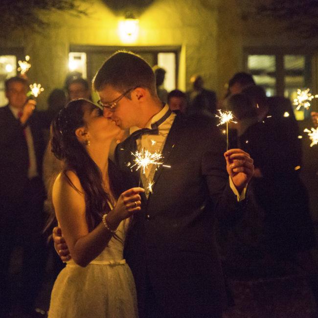 hochzeit, kuss, wunderkerzen, wedding, kiss, nacht
